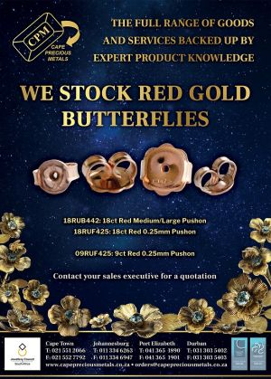 CPM Red-Gold Butterflies Flyer