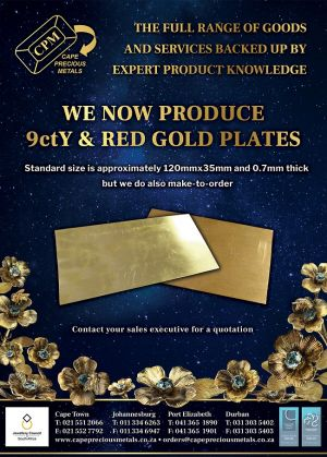CPM Makes 9ctY & Red Gold Plates