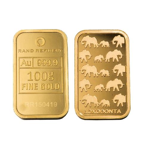 100g die finish gold bar